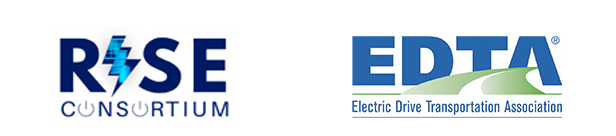 RISE logo and Electric Drive Transportation Association (EDTA)