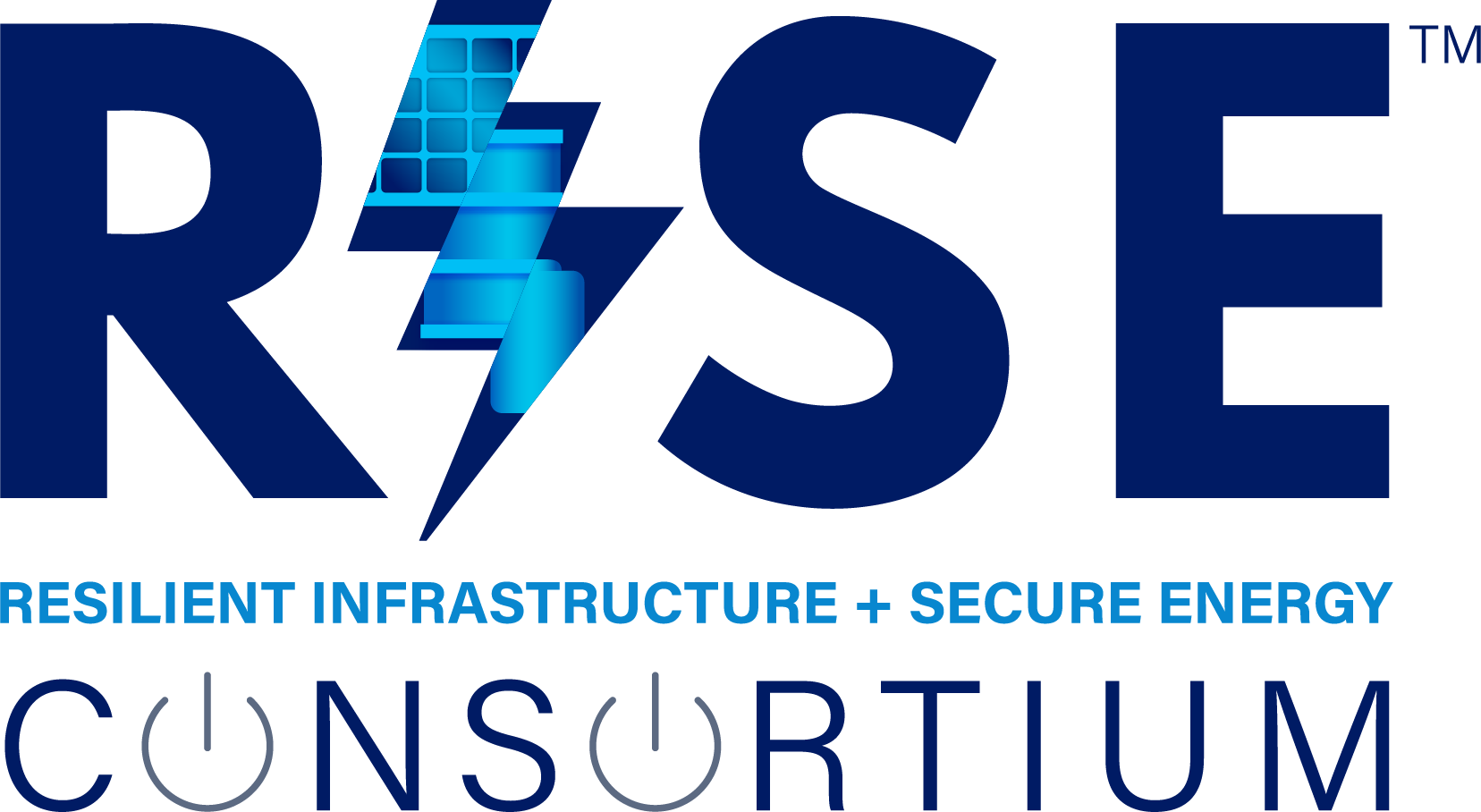RISE: Resilient Infrastructure + Secure Energy Consortium Logo